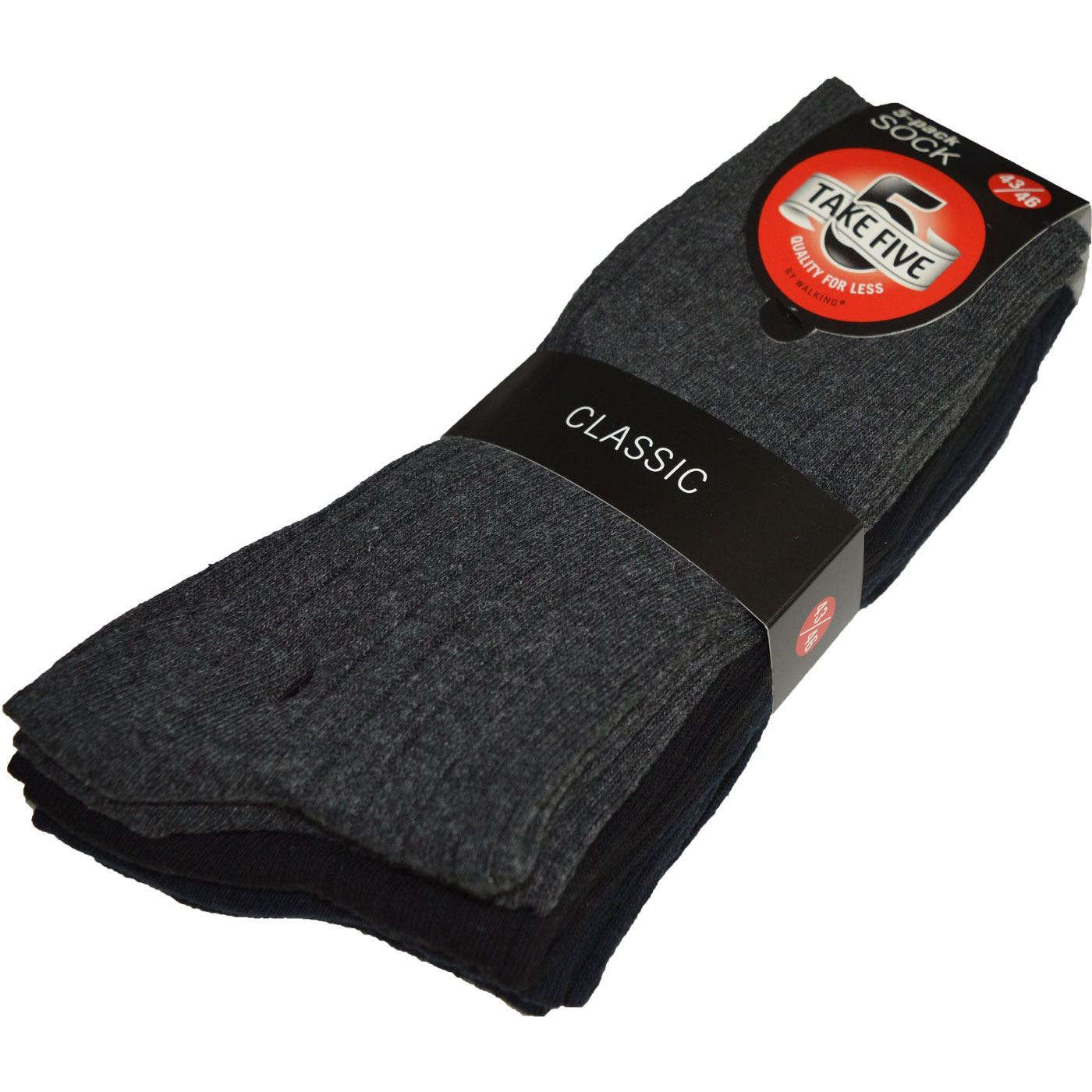 Bilde av Ribb Strikkede Sokker 5-Pack